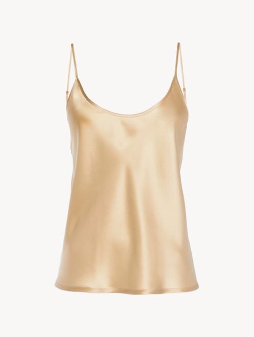 Silk camisole in beige