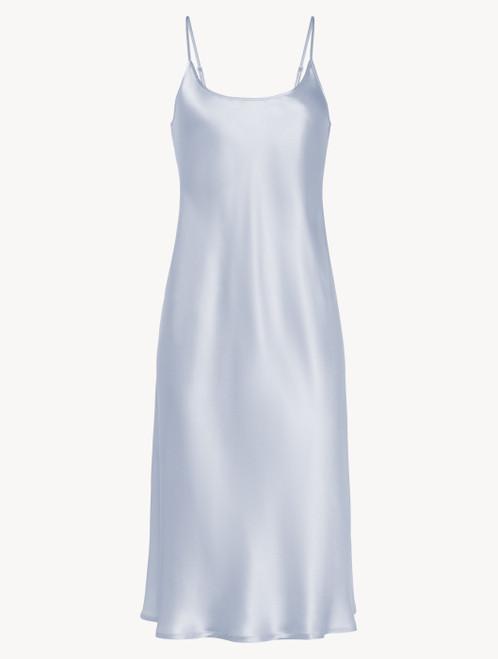 Silk midi nightdress in azure