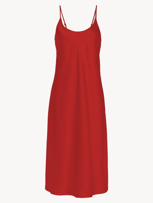 Silk midi nightdress in garnet