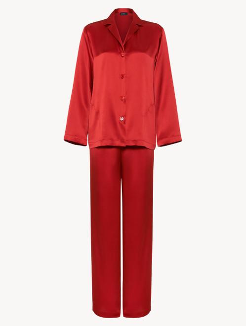Garnet silk pajama set
