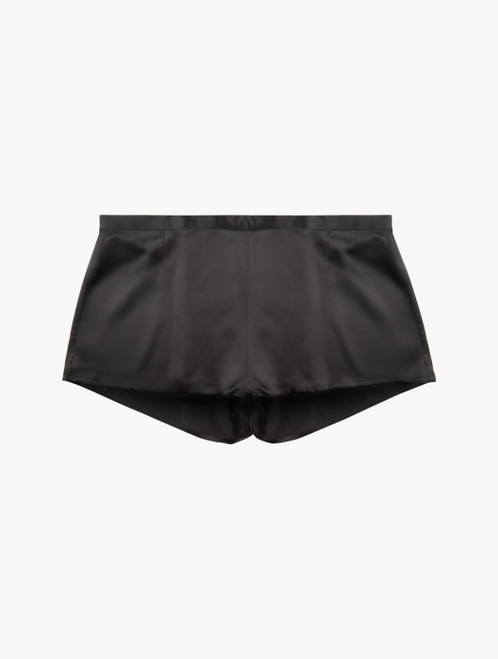 Black silk sleep shorts