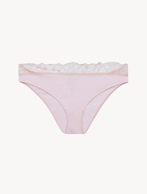 Lace medium brief in pink