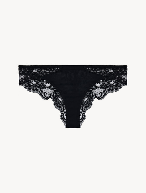 Black cotton brazilian briefs