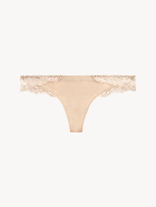 Nude cotton thong