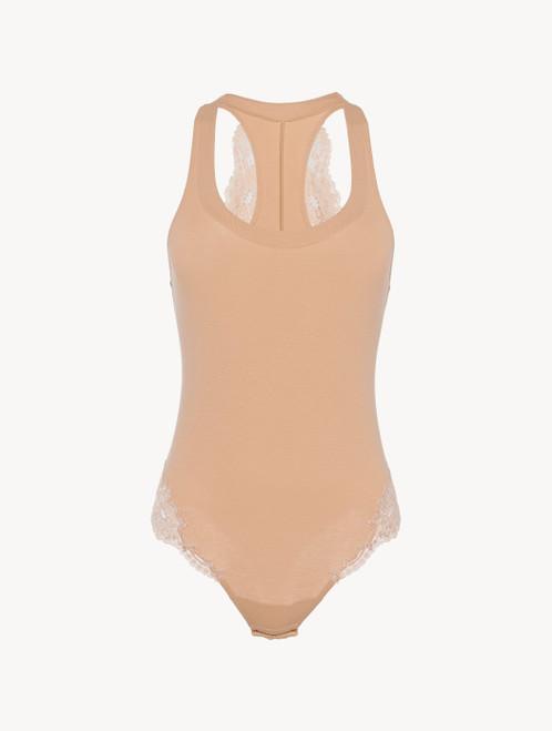 Nude cotton bodysuit