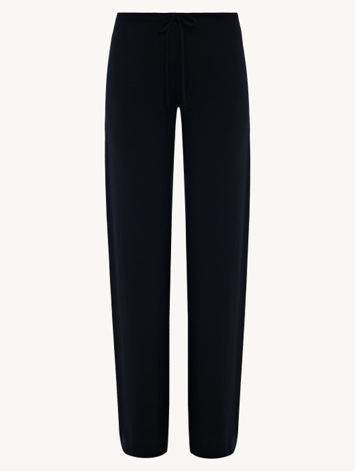 Black cotton jersey trousers