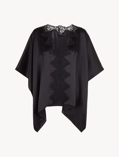 Black short robe