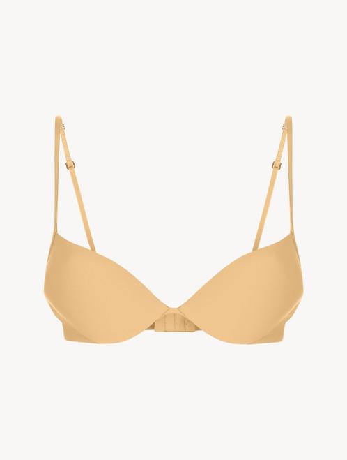 Hazel-coloured underwired padded push-up bra