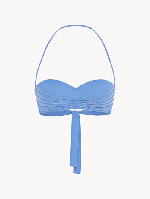 Sky blue bandeau bikini top