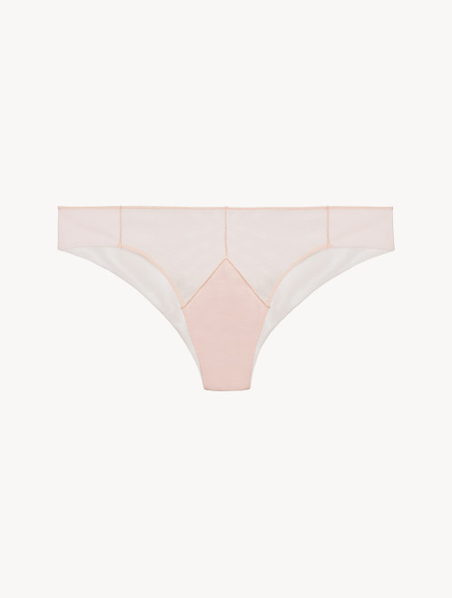 Brazilian Brief in pink stretch tulle