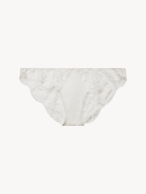 White low-rise brief