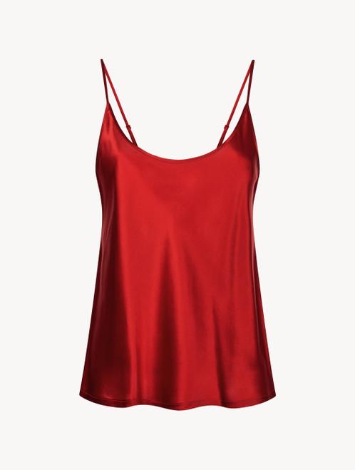 Carmine silk camisole