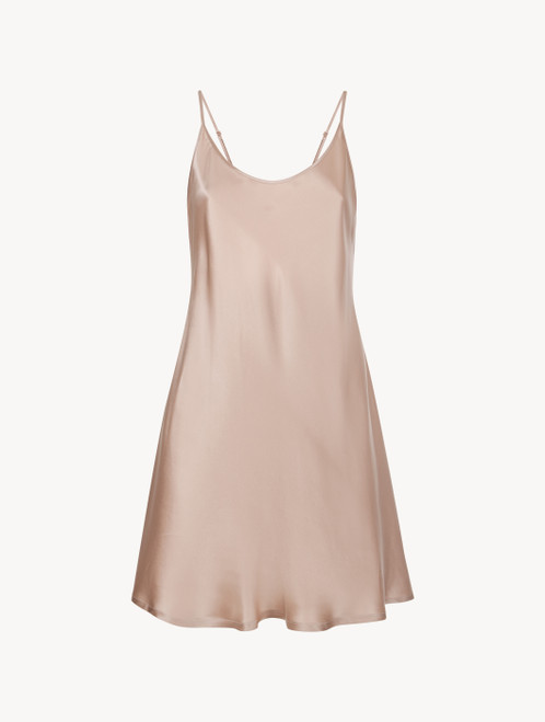 Dusty pink silk short slip