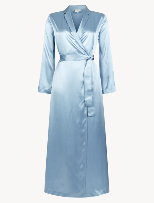 Periwinkle silk long robe