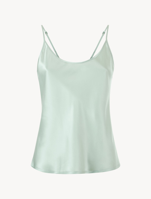 Mint green silk camisole