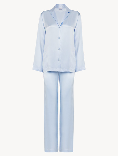 Azure silk pyjama set