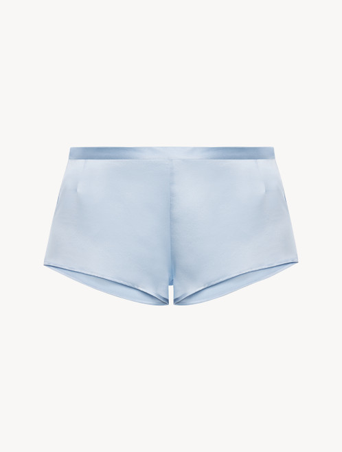 Azure silk sleep shorts