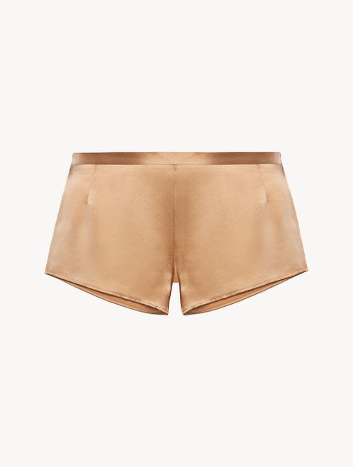 Caramel silk sleep shorts