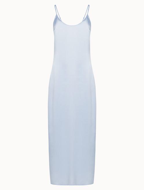 Azure silk long slip