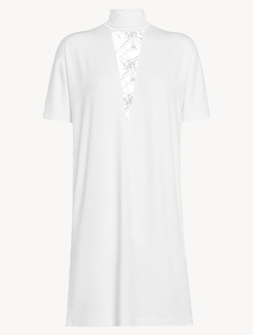 Off-white jersey T-shirt dress