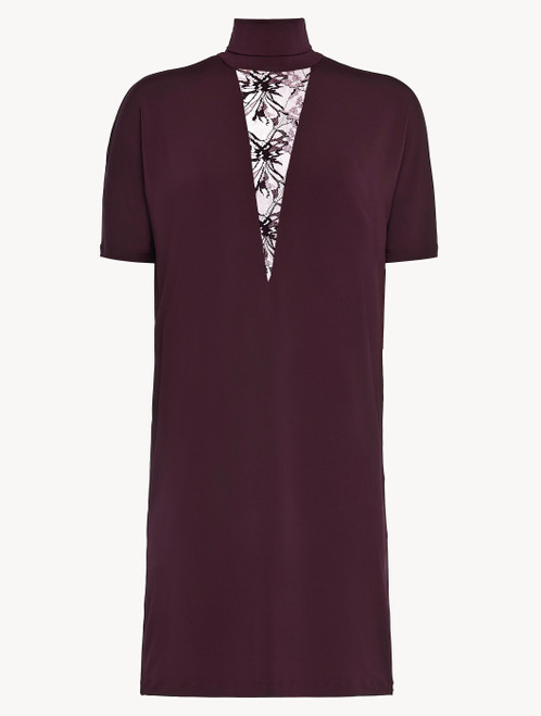 Bordeaux jersey T-shirt dress
