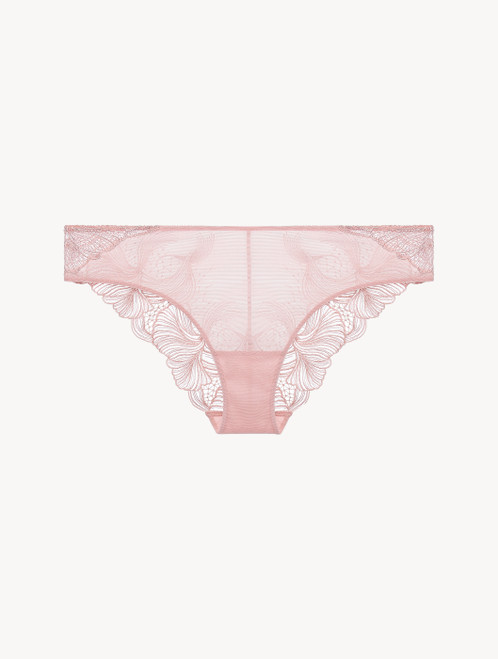 Pink embroidered tulle medium briefs