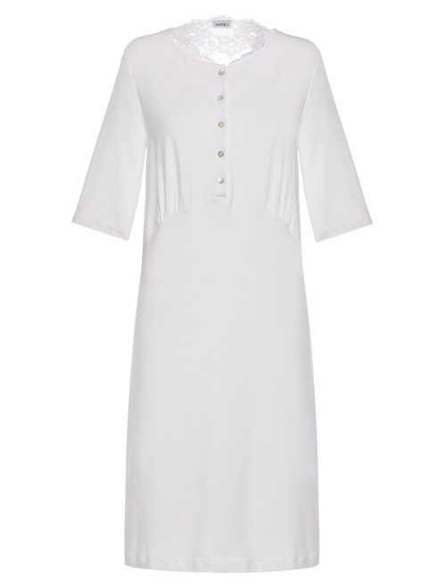 White modal stretch nightgown