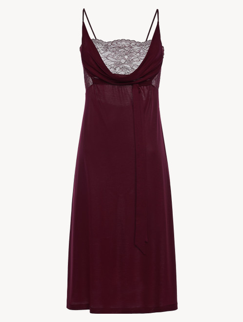 Cranberry jersey modal midi-length nightgown