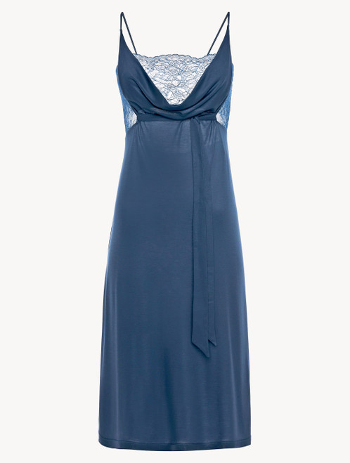 Cornflower blue jersey modal midi-length nightgown