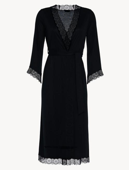 Black jersey modal long robe