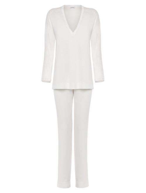 Soft white jersey modal pyjamas
