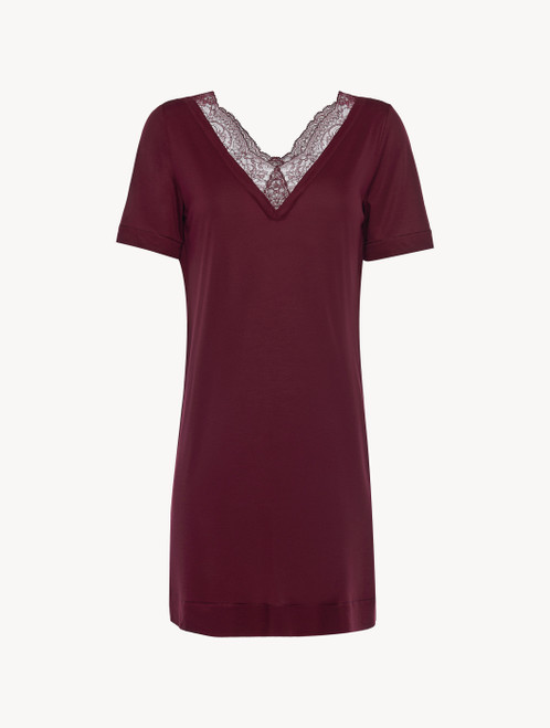 Cranberry jersey modal short nightdress