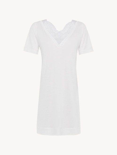 Soft white jersey modal short nightdress
