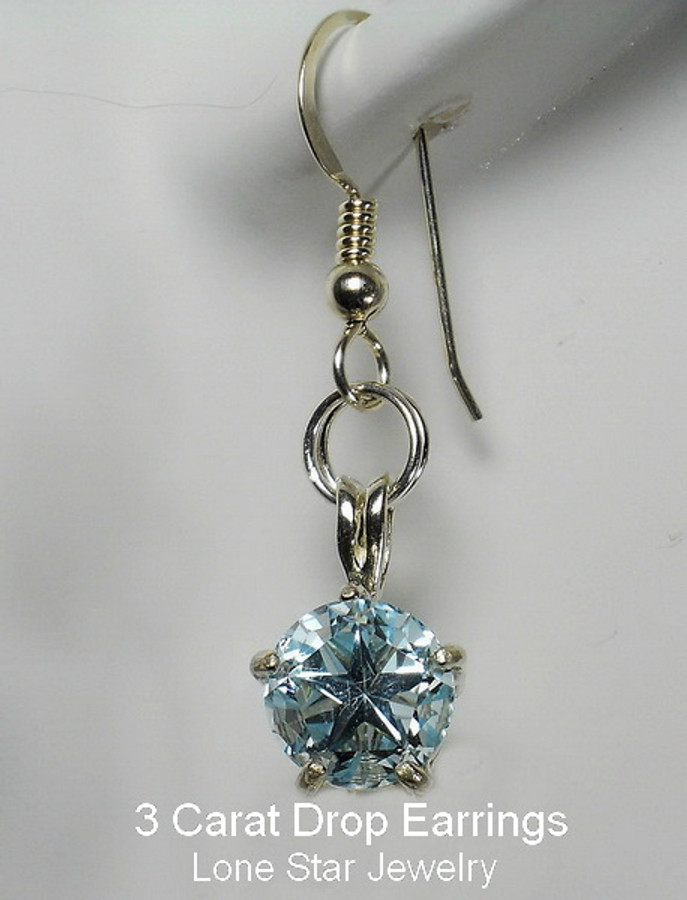 3 carat topaz drop earrings by Lone Star Jewelry