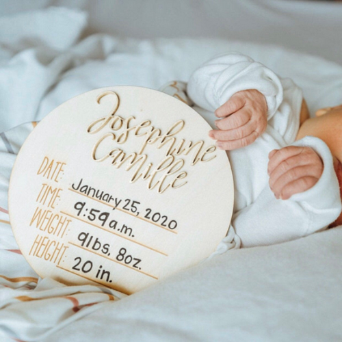 PERSONALIZED Hospital Welcome 3D Hello Name Date Time Weight Height Announcement