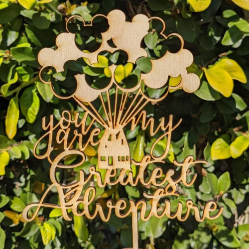 You're My Greatest Adventure Up House Cake Wedding Keepsake Topper