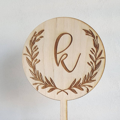 Custom Personalized Wedding Initial Wood Wedding Cake Topper