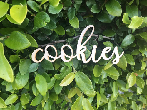 Custom Wooden Words Cursive Natural Wood Sign Cookies Sign Love Board Dessert Table Baby Wedding Bridal Shower Birthday Home Decor