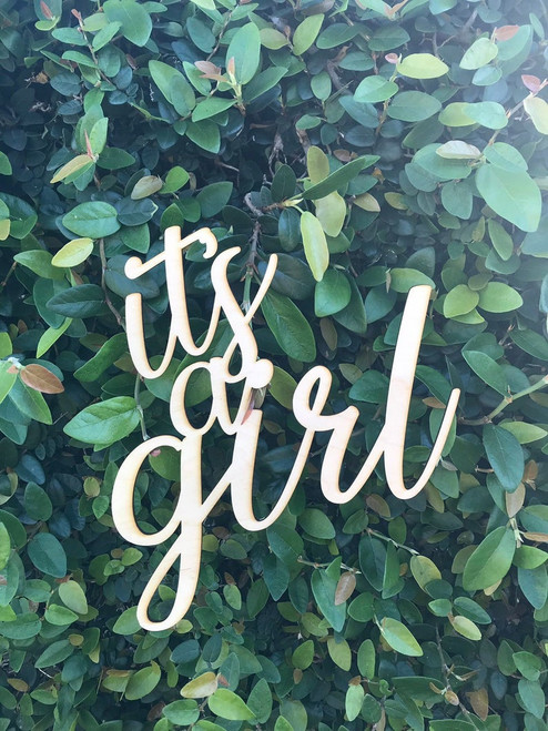 It's a Girl Photography Prop for Pregnancy Pictures or Shower Decor or Maternity Photo Prop Sign New Baby Celebration Memento Sign