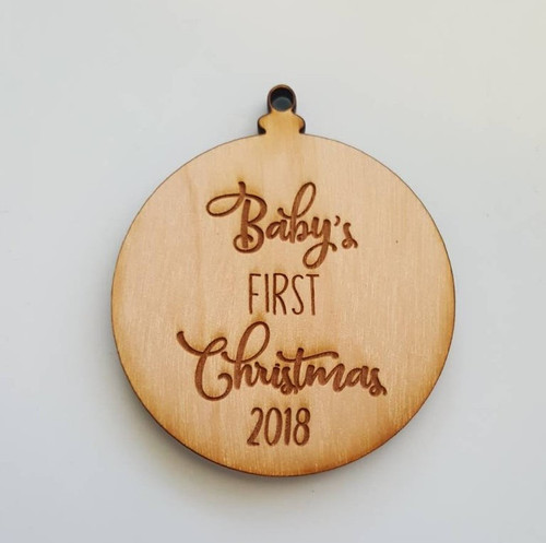 Personalized Baby's First Christmas with Custom Year Ornament Gift
