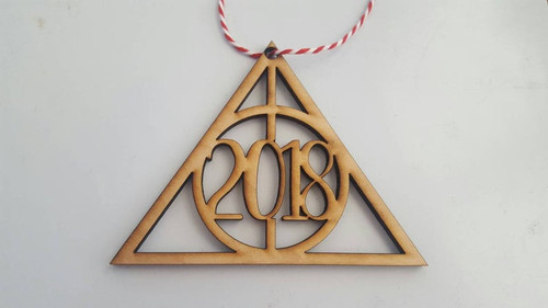 2019 Harry Potter Inspired Always Love Wedding or Anniversary Laser Cut Natural Wood Christmas Tree Ornament Decoration