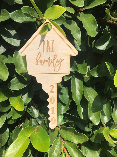 Personalized First Home Key Christmas Ornament Keepsake House Warming Gift