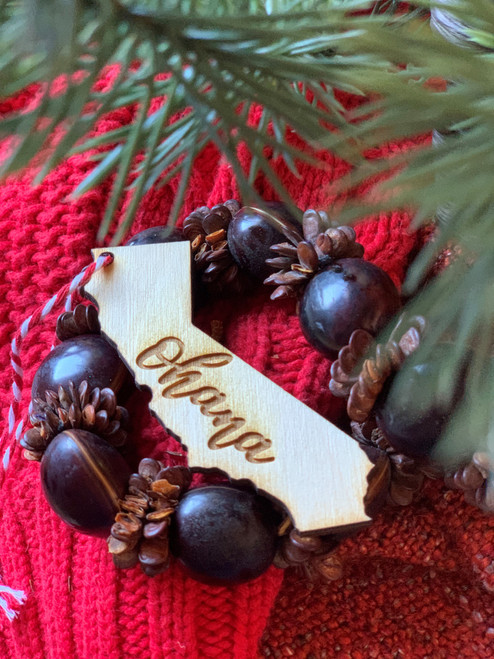 Customizable Ohana Family California Christmas Ornament