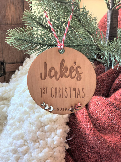 Personalized Baby's First Christmas with Custom Year Ornament Gift Keepsake