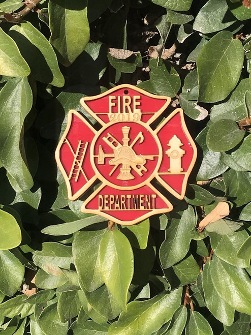Custom Firefighter Decor Christmas Holiday Ornament Year