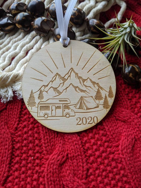 The Great Outdoors Christmas Tree Decoration | RV LIFE | Traveling Family | Happy Camper 2020 Family | Road Warrior Ornament | On the Road