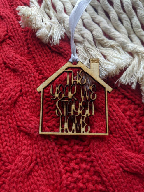 Quarantine - Covid-19 The Year We Stayed Home Christmas Tree Decoration | Covid Pandemic | Essentials | 2020 Family | Quarantine Ornament