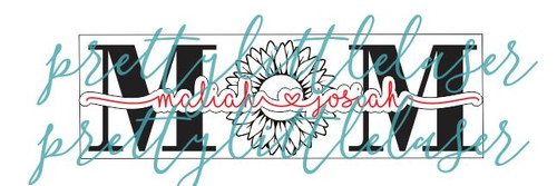 Personalized Sunflower Mom and Kids Name Plaque Sign