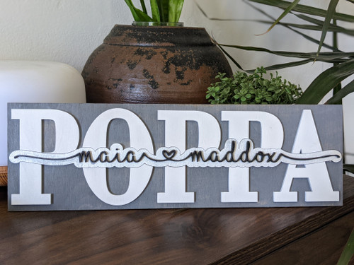 Father's Day Special Personalized Word or Name Plaque Sign