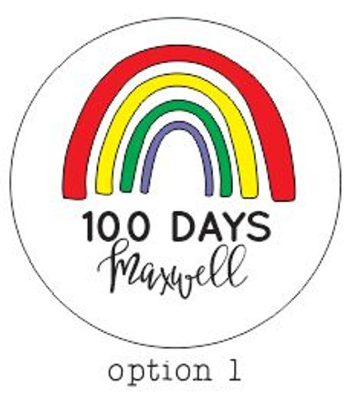 PERSONALIZED 100 Days 3D Rainbow Name Announcement